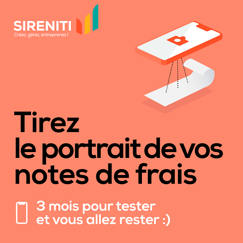 Tirez le portrait de votes notes de frais.